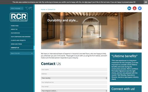 Screenshot of Contact Page rcrindustrialflooring.com - Industrial Concrete Floors - Contact RCR Industrial Flooring - captured Nov. 14, 2017