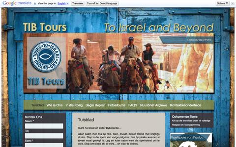 Screenshot of Home Page tibtours.co.za captured Oct. 7, 2014