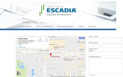 Contacto –  Escadia