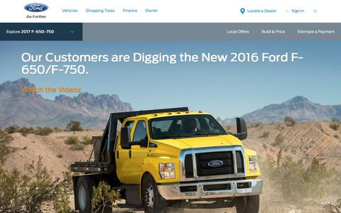 Screenshot of ford.com - 2017 Ford® F-650 & F-750 Truck | Built Ford Tough® | Ford.com - captured Jan. 11, 2017