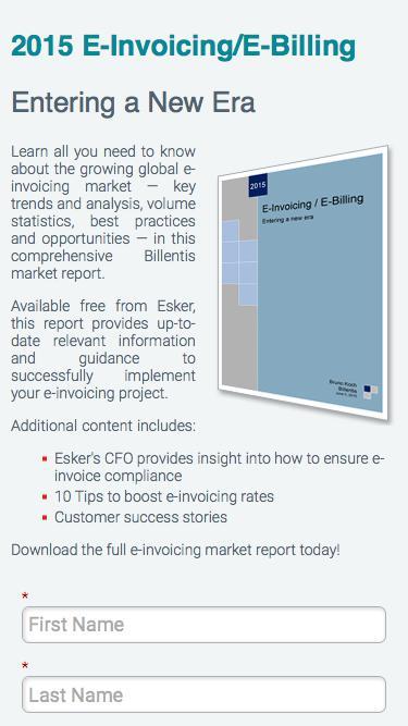 2015 E-Invoicing/E-Billing Market Report | Esker