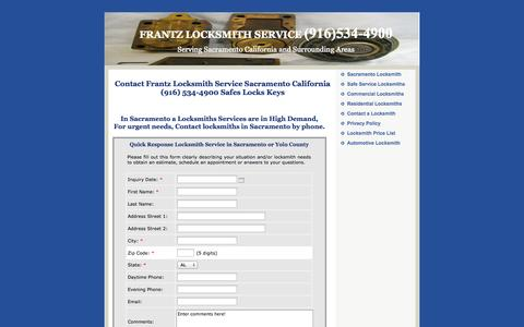 Screenshot of Privacy Page frantzlocksmithservice.com - Contact Frantz Locksmith Service 916 534-4900 Sacramento CA Locks - captured Oct. 4, 2014