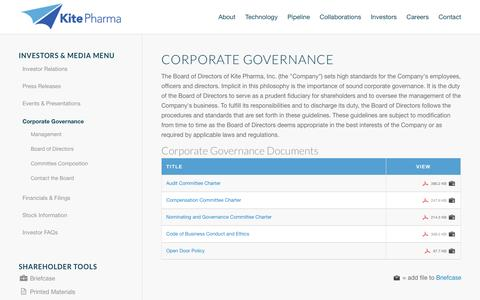 Kite Pharma, Inc. | Corporate Governance