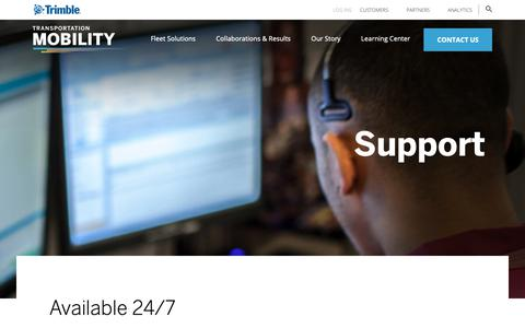 Screenshot of Support Page trimble.com - Support -| Trimble - captured Jan. 1, 2019