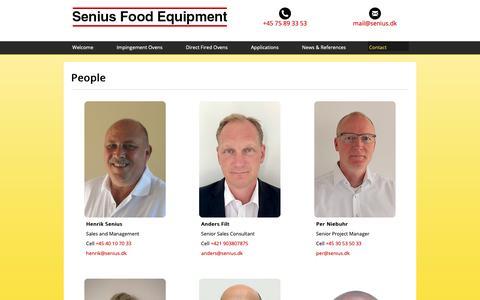 Screenshot of Team Page senius.dk - SENIUS test bakery in Hobro Denmark - Senius & Lund A/S - captured Oct. 18, 2018