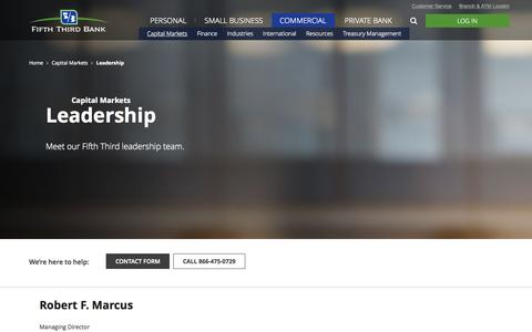 Screenshot of Team Page 53.com - Capital Markets Leadership Team | Fifth Third Bank - captured Nov. 9, 2015