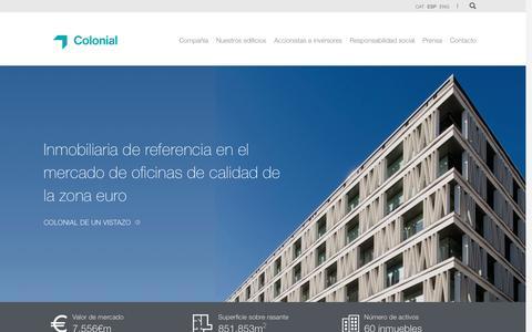 Screenshot of Home Page oficinascolonial.com - Colonial - captured Nov. 9, 2016