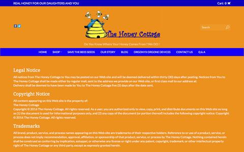 Screenshot of Terms Page thehoneycottage.com - Terms and conditions    The Honey Cottage - captured July 13, 2018