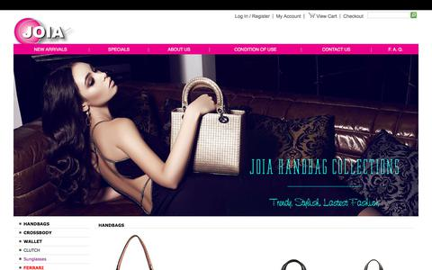 Screenshot of Home Page joiabags.com - JOIA HANDBAGS :: Wholesale Handbags - captured July 9, 2018