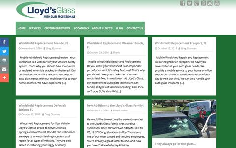 Screenshot of Blog lloydsglass.com - Lloyd's Glass   Auto Glass Professionals - captured Nov. 12, 2016