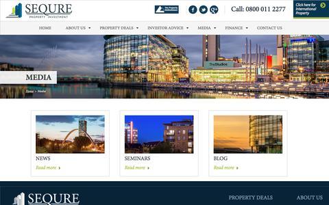 Screenshot of Press Page sequre.co.uk - Sequre Property Investment - captured Sept. 30, 2017
