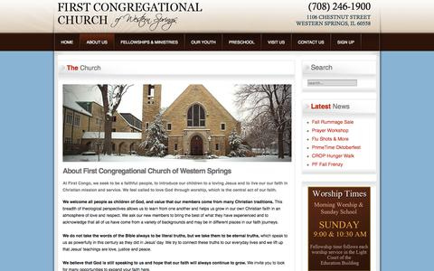 Screenshot of About Page wscongo.org - The Church - captured Oct. 6, 2014