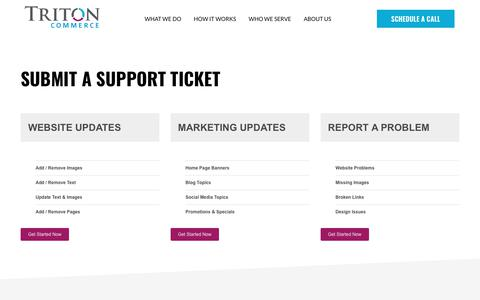 Screenshot of Support Page tritoncommerce.com - Support Directory - Triton Commerce | Minneapolis Digital Marketing - captured April 28, 2019