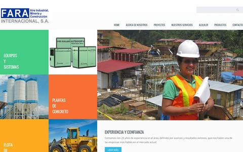 Screenshot of Home Page fara-internacional.com - Fara Internacional | Aire Industrial, Minería y Construcción - captured Oct. 5, 2014