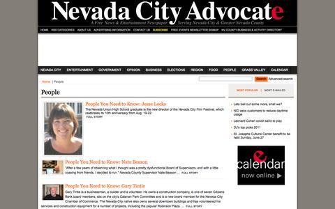 Screenshot of Team Page nevadacityadvocate.com - Nevada City Advocate - A free news & entertainment Newspaper Serving Nevada City & Greater Nevada County - People - captured Oct. 7, 2014