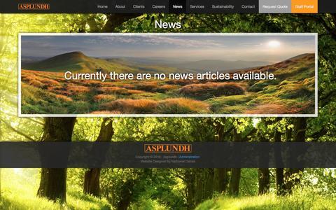 Screenshot of Press Page asplundh.com.au - News - Asplundh Australia - captured Nov. 21, 2016
