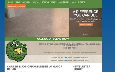 Screenshot of Jobs Page gatorclean.net - Employment Opportunities and Careers | Gator Clean - captured Dec. 7, 2015