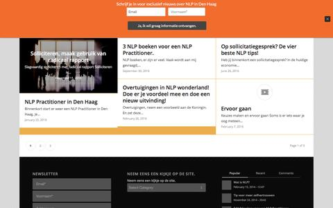 Screenshot of Blog trener.nl - Blog – Trener, coaching en training - captured Dec. 16, 2016