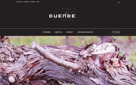 Screenshot of Home Page duendewine.com - Duende Wine - captured Jan. 7, 2016