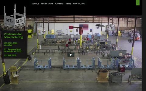 Screenshot of Home Page morrisontool.com - Morrison Tool | Containers for the Manufacturing Industry - captured Oct. 10, 2014