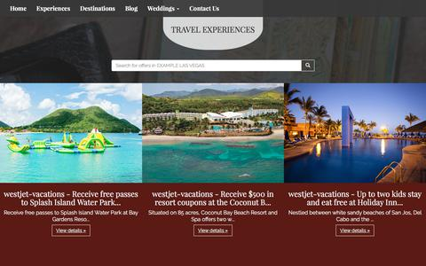 Screenshot of Products Page talkofthetowntravel.com - Our Products | Talk Of The Town Travel - captured Oct. 27, 2017