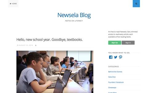 Newsela Blog – Notes on literacy
