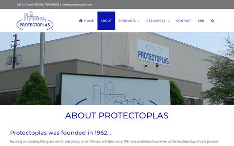 Screenshot of About Page protectoplas.com - About Protectoplas - what makes us above the rest - captured Sept. 29, 2018