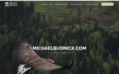 Screenshot of Home Page michaelbudnick.com captured Sept. 28, 2018