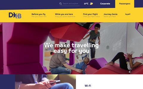 Screenshot of Services Page dubaiairports.ae - Services   Dubai Airports - captured Feb. 15, 2019