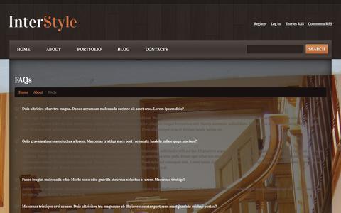 Screenshot of FAQ Page enlivenyourspace.com - FAQs - Interior Design that InspiresInterior Design that Inspires - captured Feb. 16, 2016