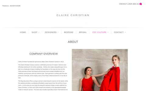 Screenshot of About Page clairechristiancouture.com - About   Claire Christian Couture - captured Aug. 4, 2017