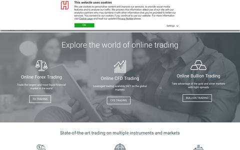 Screenshot of Products Page hantecfx.com - Forex Products | Forex Platforms, FX & MT4 Solutions - Hantec Markets - captured July 12, 2018