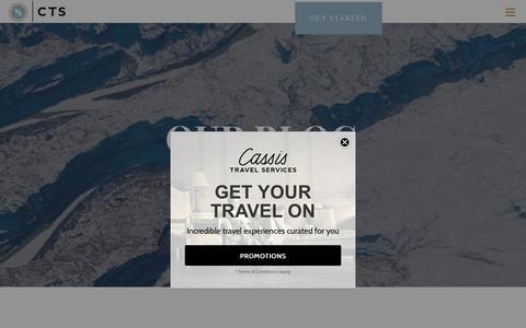 Screenshot of Blog travelcts.com - BLOG - CTS - captured Sept. 27, 2018