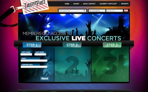 Screenshot of Signup Page talentpass.com - Talent Pass - captured Feb. 27, 2016