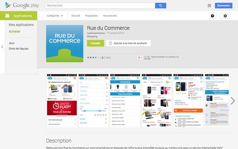 Screenshot of Android App Page google.com - Rue du Commerce - Applications Android sur Google Play - captured Nov. 4, 2014