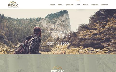 Screenshot of Press Page peakfinancialmanagement.com - News – Peak Financial - captured Oct. 28, 2016