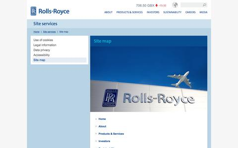 Screenshot of Site Map Page rolls-royce.com - Site map – Rolls-Royce - captured March 9, 2016