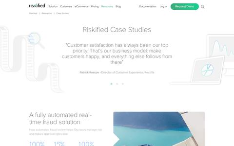 Screenshot of Case Studies Page riskified.com - Ecommerce Fraud Case Studies | Riskified - captured Feb. 6, 2018