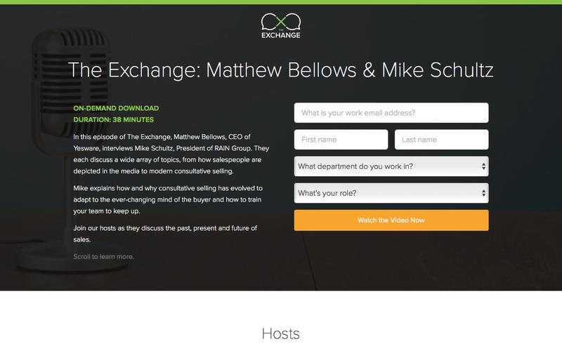 The Exchange: Matthew Bellows & Mike Schultz | Yesware