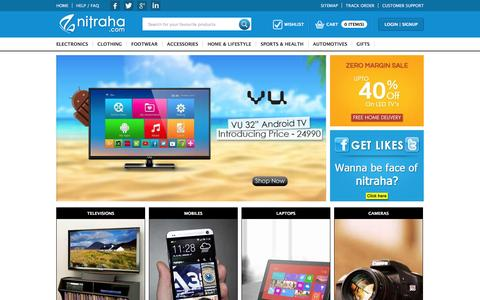 Screenshot of Home Page nitraha.com - Nitraha.com | Best online Shopping website in India - captured Feb. 15, 2016