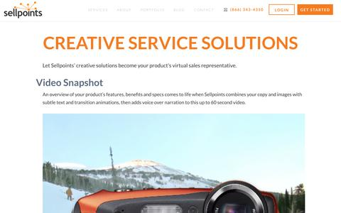 Creative Services - Sellpoints