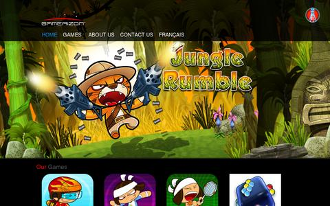 Screenshot of Home Page gamerizon.com - Gamerizon - Home Page - captured July 11, 2014