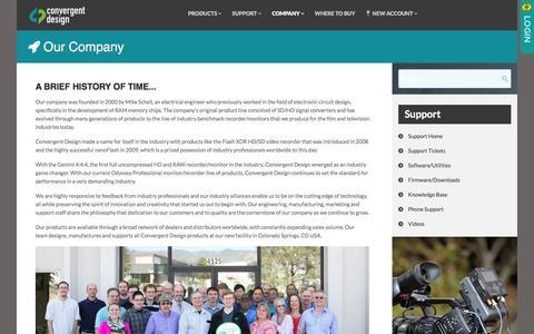 Screenshot of About Page convergent-design.com - Company - Convergent Design - captured Dec. 12, 2015