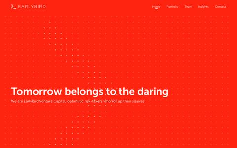 Screenshot of Home Page earlybird.com - Earlybird - captured Nov. 9, 2018