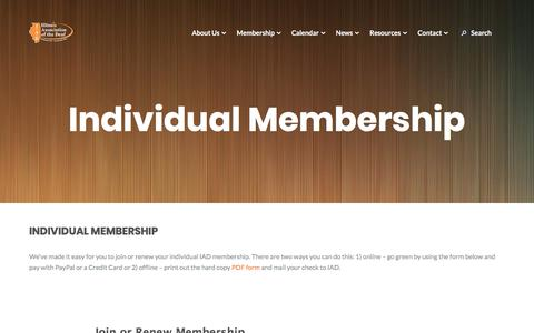 Screenshot of Signup Page iadeaf.org - Individual Membership – Illinois Association of the Deaf - captured July 4, 2018