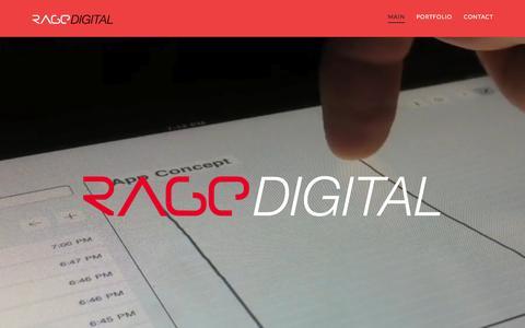 Screenshot of Home Page ragedigital.com - Rage Digital | Mobile App Design and Development - captured Dec. 5, 2015