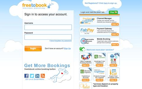 Freetobook :: Please Login