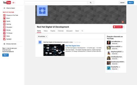 Screenshot of YouTube Page youtube.com - Red Hat Digital UI Development  - YouTube - captured Nov. 3, 2014