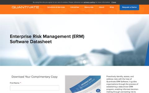 Screenshot of Case Studies Page quantivate.com - Enterprise Risk Management Software Datasheet | Quantivate - captured Dec. 3, 2019