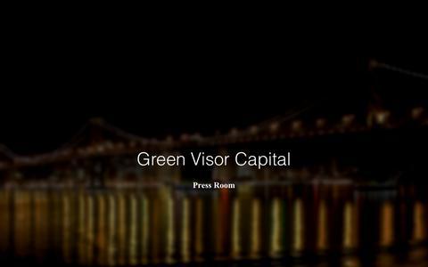 Screenshot of Press Page greenvisorcapital.com - Green Visor Capital - Press - captured May 16, 2019